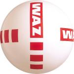 PVC-Werbeball mit Kreuzdruck